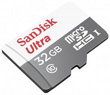 купить Карта памяти SanDisk Ultra microSDHC Class 10 32GB Card with Adapter в Омске