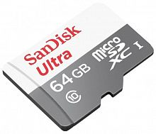 купить Карта памяти SanDisk Ultra microSDXC Class 10 64GB Card with Adapter в Омске