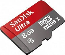 купить Карта памяти SanDisk Ultra microSDHC Class 10 8GB Card with Adapter в Омске
